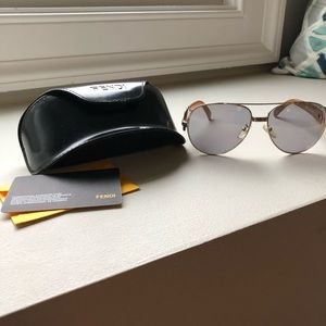 Fendi Aviator Styled Sunglasses